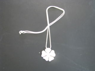 Sterling Silver 4 leaf clover chain