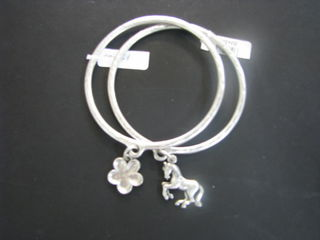 Silver Bracelet with Horse Charm