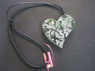 Long Resin Heart Necklace