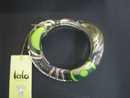 Green Swirly Bracelet